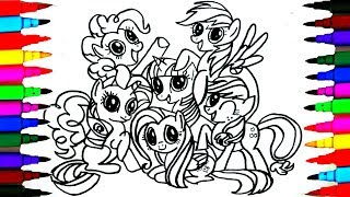 Download How to Draw MLP Friendship is Magic Coloring Drawing Pages Videos for Kids l Art l Colored PENS Video