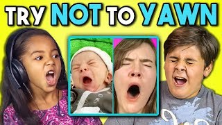 Download KIDS REACT TO TRY TO WATCH THIS WITHOUT YAWNING CHALLENGE Video