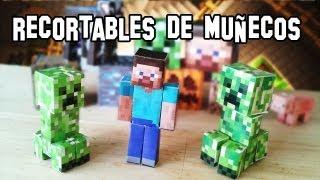 Download ✔Cómo Hacer los Muñecos y Personajes de Minecraft PaperCraft Video