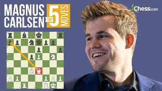 Download Magnus Carlsen's 5 Most Brilliant Chess Moves Video