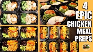 Download 4 EPIC CHICKEN MEAL PREP RECIPES Video