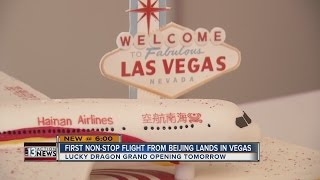 Download First non-stop flight from Beijing highlights growth of Chinese tourism in Las Vegas Video