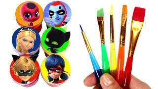 Download Miraculous Ladybug Drawing & Painting with Surprise Toys Cat Noir Tikki Plagg Antibug The Bubbler Video