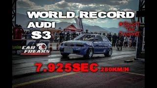 Download Audi S3 World Record 7,925sec @ 280km/h | Car Freaks Gr Video