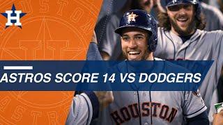 Download Astros score 14 runs against the Dodgers Video