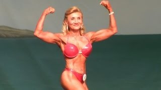 Download 63 Year Old Female Bodybuilder at The 2013 Europa Show of Champions. Video