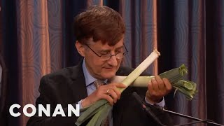 Download Dr. Dale Stuckenbruck Introduces Conan To His Vegetable Orchestra - CONAN on TBS Video