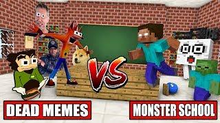 Download MONSTER SCHOOL VS DEAD MEME - Minecraft Animation Video