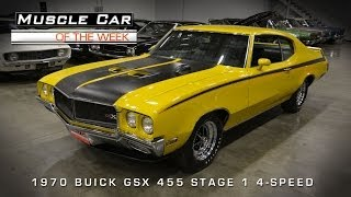 Download Muscle Car Of The Week Video #45: 1970 Buick GSX 455 Stage 1 4-Speed Video