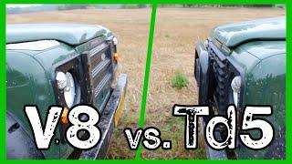Download Defender Showdown! | V8 vs.Td5 Video