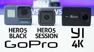 Download GoPro HERO 5 Black vs Session vs YI 4K - REVIEW Video