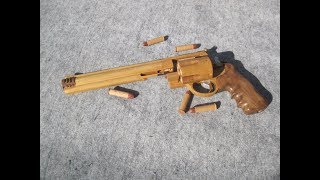 Download REV◎LVER RUBBER BAND GUN 00.0 S&W M500 single & double action Video