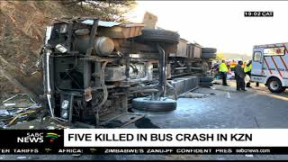 Download Investigations on cause of KZN bus crash that killed 5 are underway Video