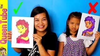 Download น้องควีน Vs. มามี้แอน เล่นชาเลนจ์ ระบาย 3 สี Ep.2 | 3 MARKER CHALLENGE ELSA L.O.L | QueenTubeTH ✔︎ Video