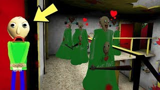 Download เมื่อคุณยายผีหลายตัว จับ Baldi'sครูหัวโล้น เป็นสามี!!! granny horror game [N.N.B CLUB พี่นุ้ย] Video