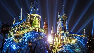 """Download FULL """"The Magic of Christmas at Hogwarts"""" Harry Potter projection show, Universal Orlando Video"""