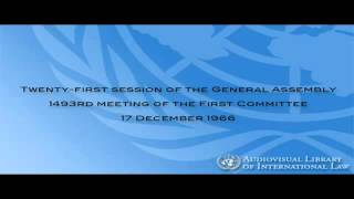 Download Outer Space Treaty 21st session of the General Assembly, First Committee, 1493rd plenary meeting Video