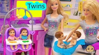Download Barbie Babysitting Baby Twins Color Change Water Play Video Babysitter Playset Cookieswirlc Video
