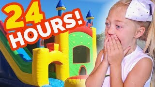 Download 24 HOURS INSIDE A GIANT BOUNCE HOUSE IN OUR BACKYARD!!! (SURPRISING EVERLEIGH) Video