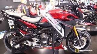 Download 2016 Yamaha MT09 Tracer Customized by Ermax - Walkaround - 2015 EICMA Milan Video