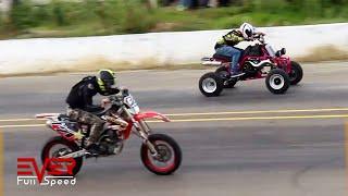 Download Drag Races | Ninja 300, Yamaha YZ, R3, RX, Banshee, KTM Duke | 14 Seg. 1ra válida motos 1/4 de milla Video