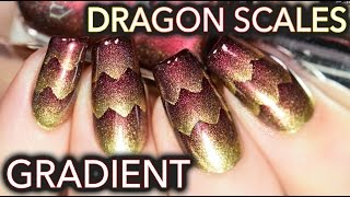 Download Dragon Scales nail art! (aka Triple Scaled gradient) Video