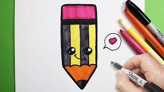 Download رسم قلم رصاص كيوت | رسم كيوتات | رسم أطفال سهل | تعليم الرسم للاطفال Video