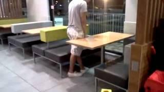 Download Drunk Idiot Pisses in Fast Food Restaurant Video