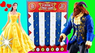 Download Beauty and The Beast Movie Disk Drop Game! Belle, Beast, Lumiere & Gaston Learn Colors! Video
