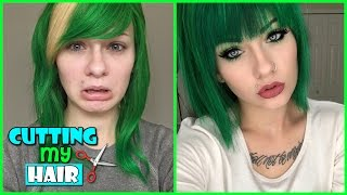 Download CUTTING MY WIG SHORT! (+Dying Dark Green)   HeyThereImShannon Video