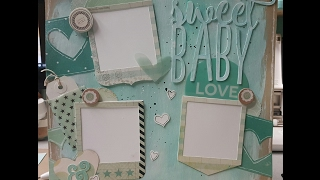 Download Scrapbook Layout Process Video Using Gesso and Faber Castell Gelattos Video