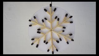 Download Matchstick snowflake christmas decoration craft. Video