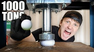 Download EXPLODING GOLF BALLS WITH HYDRAULIC PRESS!! (HYDRAULIC PRESS vs GOLF BALL) Video