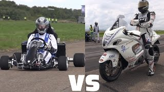 Download Suzuki GSX 1300R Hayabusa vs 230HP Kart CBR1000RR Fireblade Video