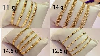 Download Latest light weight gold BANGLES designs with WEIGHT Video