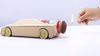 Download Cool Matches Powered Cardboard Jet Car Video