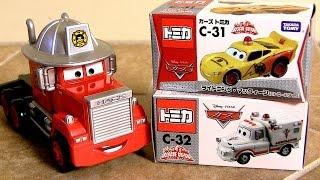 Download Patrol Lightning McQueen & Ambulance Mater Rescue-Go-Go Fire Department Mack Truck Hauler タカラトミー Video
