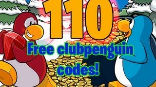 Download Club penguin - 110 Free Clothing/Coin Unlockable Codes For Everyone to use! (55,000 free coins) Video
