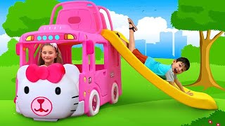 Download Sasha play with New Hello Kitty Bus and sing a Song Video