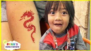 Download RYAN GOT A TATTOO! Family Fun Kids Activities Build a bear at Great Wolf Lodge Video