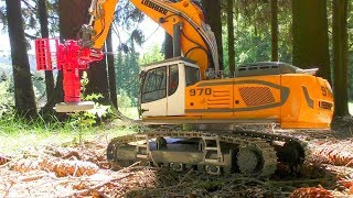 Download RC LIEBHERR R970 SME WITH WOOD CUTTER! COOL RC ACTION IN THE WOODS! Video