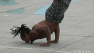 Download Guy Flips Over 7 People & Stands On His Face - Street Performers - Video