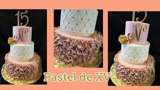 Download Pastel de quinceañera !!!😍😍😍 Rufles cake Video