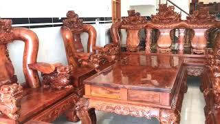 Download Bộ ghế gỗ cẩm chỉ(cẩm lai) Việt nam tay 20 .Nội thất gỗ quý Video
