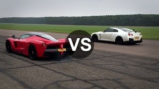 Download Ferrari LaFerrari Vs Nissan GTR Drag Race - DRAGINFO Video