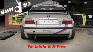 Download BMW e36 M3 Rocketbunny - Türtafeln & X-Pipe Einbau Video