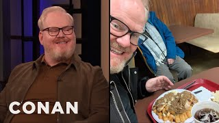 Download Jim Gaffigan Tried Rochester's Infamous ″Garbage Plate″ - CONAN on TBS Video