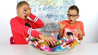 Download 3 Colors of Glue Slime Challenge!!! Video