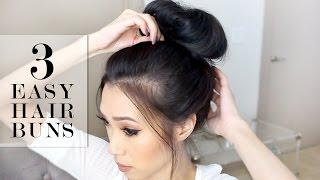 Download 3 Easy Bun Hairstyles   LeSassafras Video
