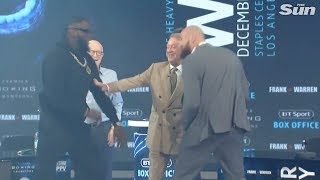 Download Wilder vs Fury: sparks fly at London press conference Video